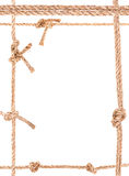 Marco del nudo de la cuerda fotos de archivo