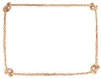 Marco del nudo de la cuerda Fotos de archivo libres de regalías