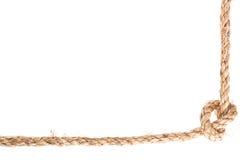 Marco del nudo de la cuerda Imagenes de archivo