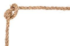 Marco del nudo de la cuerda Imagen de archivo