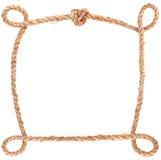 Marco del nudo de la cuerda Foto de archivo