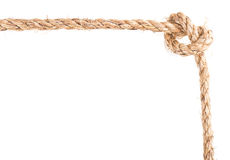 Marco del nudo de la cuerda Foto de archivo libre de regalías
