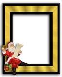 Marco del ornamento de Papá Noel Imagen de archivo