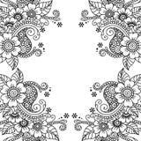Marco del ornamento del vector de la flor Fotos de archivo