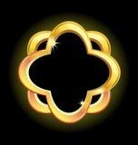 Marco del oro Imagen de archivo