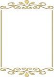 Marco del oro Fotografía de archivo