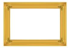 marco del oro 3d Imagen de archivo