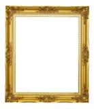 Marco del oro aislado Imagen de archivo libre de regalías