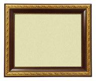 Marco del oro aislado en blanco Imagen de archivo