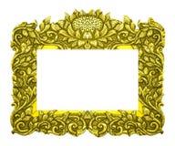 Marco del oro aislado en el fondo blanco Foto de archivo
