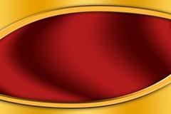 Marco del oro alrededor de un fondo rojo imagen de archivo libre de regalías