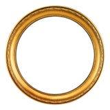 Marco del oro - camino de recortes Fotos de archivo