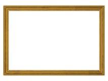 Marco del oro con el camino de recortes foto de archivo libre de regalías