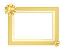 Marco del oro con los arqueamientos Imagen de archivo libre de regalías