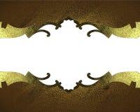 Marco del oro con los modelos Plantilla para el diseño copie el espacio para el folleto o la invitación del aviso, fondo abstract Imagen de archivo libre de regalías