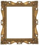 Marco del oro de la antigüedad Fotografía de archivo libre de regalías