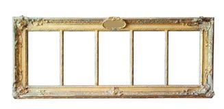 Marco del oro de la vendimia Imágenes de archivo libres de regalías