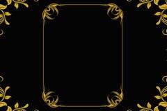Marco del oro de la vendimia Fotografía de archivo libre de regalías