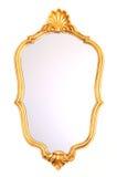 Marco del oro del espejo imágenes de archivo libres de regalías
