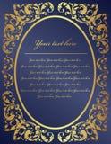 Marco del oro del estilo de la vendimia Foto de archivo libre de regalías