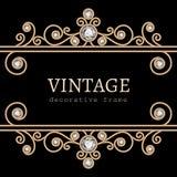 Marco del oro del vintage Imagen de archivo libre de regalías