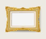 Marco del oro del vintage Foto de archivo libre de regalías