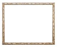Marco del oro en el fondo blanco fotografía de archivo