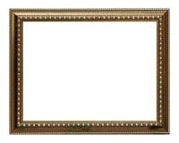 Marco del oro y de madera Foto de archivo