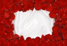Marco del pétalo de Rose Foto de archivo libre de regalías