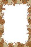 Marco del pan de jengibre de la Navidad Foto de archivo