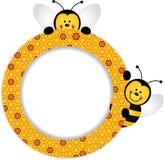 Marco del panal de las abejas stock de ilustración