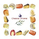 Marco del queso Foto de archivo libre de regalías