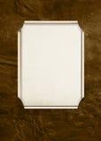 Marco del rectángulo en cuero marrón Imágenes de archivo libres de regalías