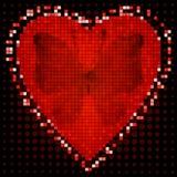 Marco del rojo de la tarjeta del día de San Valentín Fotografía de archivo