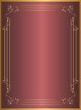 Marco del rojo del oro Imagen de archivo libre de regalías