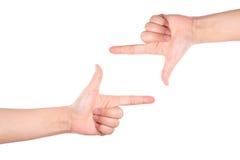 Marco del símbolo de la mano Imágenes de archivo libres de regalías