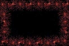 Marco del saludo de los fuegos artificiales Foto de archivo