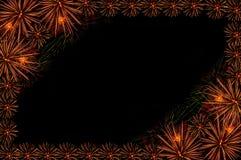 Marco del saludo de los fuegos artificiales Fotografía de archivo libre de regalías