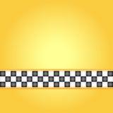 Marco del taxi Imagen de archivo libre de regalías