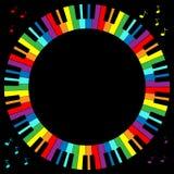 Marco del teclado de piano Fotografía de archivo libre de regalías