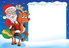 Marco 9 del tema de la Navidad ilustración del vector