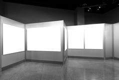 Marco vacío en museo de arte Foto de archivo