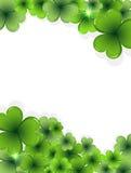 Marco del trébol del día del St. Patricks Fotografía de archivo libre de regalías