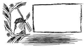 Marco del trigo libre illustration