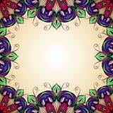 Marco del vector con el ornamento redondo adornado Fotos de archivo