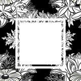 Marco del vector con las flores Fotografía de archivo