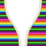Marco del vector de lápices coloreados Imágenes de archivo libres de regalías