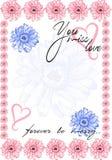 Marco del vector de las flores Fotografía de archivo