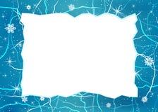 Marco del vector del hielo Fotos de archivo