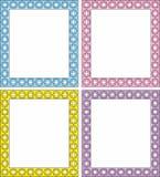 Marco del vector en 4 cortinas del color Imagen de archivo